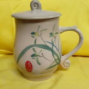 AQ05 彩繪杯 陶瓷杯彩繪杯子