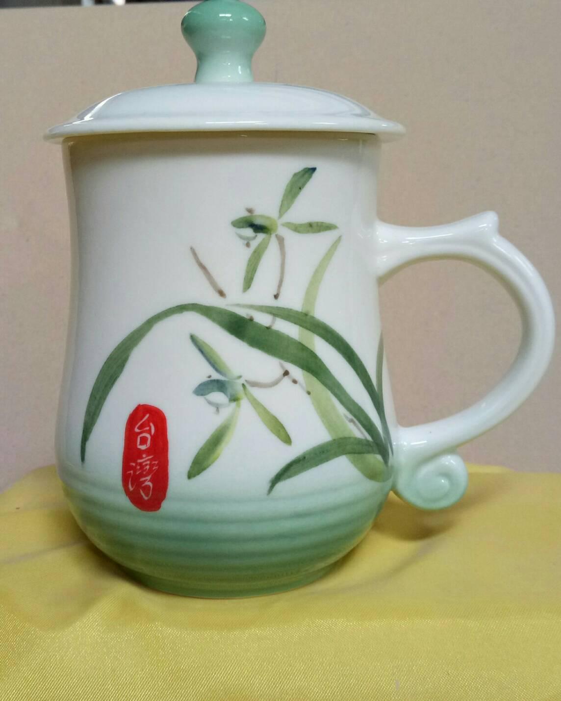 BQ09 彩繪杯 陶瓷杯彩繪杯子