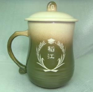 畢業禮物 G1006 畢業杯子,教師杯,教師杯子 雕刻稻江LOGO圖