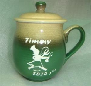 快樂杯 U4010 鶯歌陶瓷雕刻杯 雕刻廚師圖