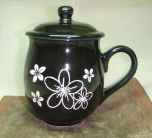 茶杯 U4014 雕刻 油桐花圖