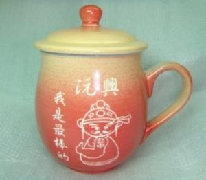 刻名字的杯子 G4002 雕刻文昌帝君圖