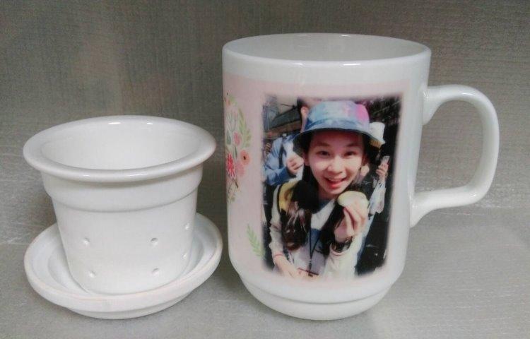 熱轉印馬克杯150 - 熱轉印3件式雪白瓷馬克杯 泡茶杯