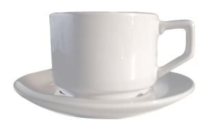 熱轉印馬克杯126 --- 熱轉印白色半瓷咖啡杯盤