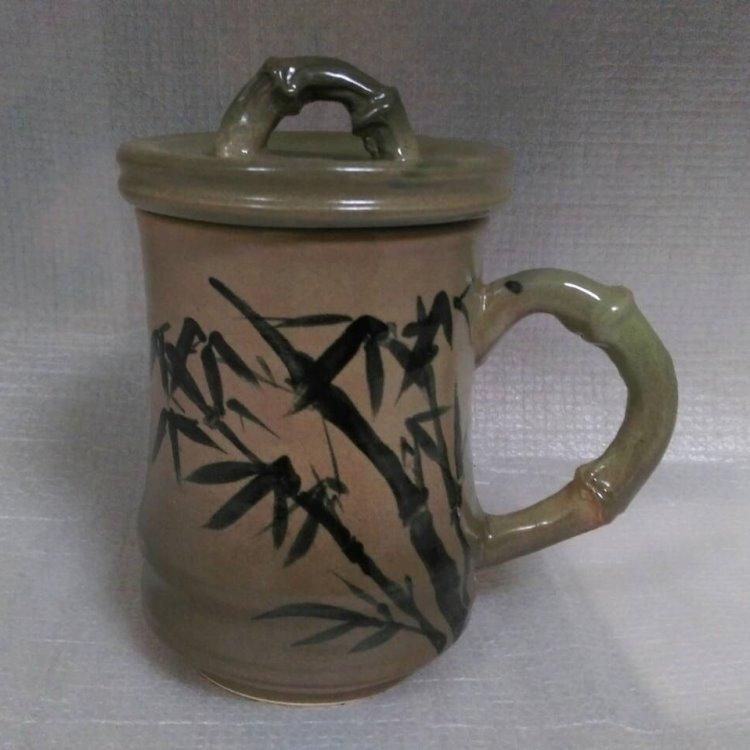 HG2007 手拉竹子杯+畫竹子圖