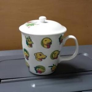窯燒馬克杯ST170 骨瓷馬克杯+蓋子