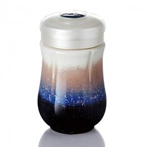15-D1590-1 雪晶心情隨身杯 棕紫色單層環保杯320ml