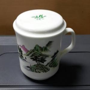 窯燒馬克杯ST009 骨瓷馬克杯+蓋子 390 c.c.