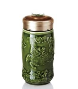 15-D1794 麒麟 隨身杯 ( 單層 / 綠釉 / 350 ml )