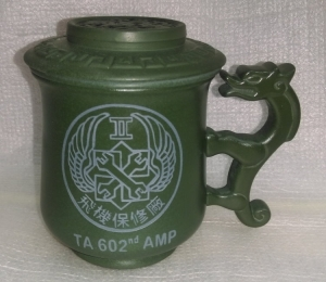 泡茶杯 G2017 雕刻飛機保修廠 LOGO圖 3件龍杯 泡茶杯
