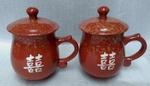結婚禮物-J6311  鶯歌陶瓷對杯組
