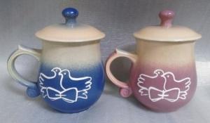 結婚禮物-J6309 結婚紀念杯 陶瓷對杯組 + 畫愛情鳥