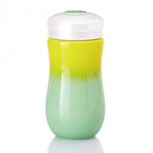 15-D1796-1 甜心隨身杯 ( 中 / 單層 /黃綠漸層) 370ml