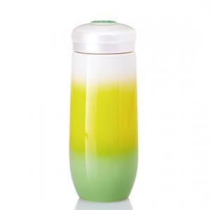 15-D1994-3  精彩隨身杯  大 單層 綠黃白漸層 480ml