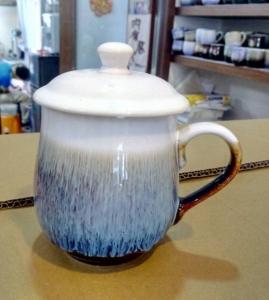 茶杯 FK902 窯變 雪晶杯 白色+ 雕刻 350cc