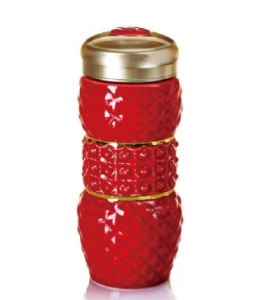 15-D3201 亮石 隨身杯( 雙層 / 鎏金+紅釉 / 250 ml)