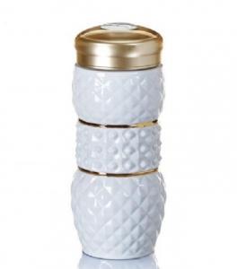 15-D3202 亮石隨身杯( 雙層 / 鎏金+白釉 / 250ml )