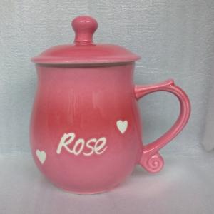 姓名杯 C224 亮粉紅色 圓滿杯 鶯歌陶瓷茶杯 全滿450cc