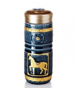 15-D4202-1 鎏金皇家駿馬 隨身杯(金/雙層)250ml