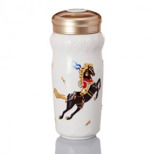 15-D4207 皇族天馬隨身杯(大/雙層 /白彩金 /250 ml )