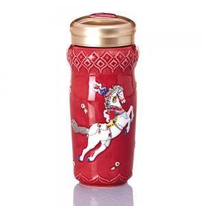 15-D4207-1 皇族天馬隨身杯(大/雙層 /紅彩金 /250 ml )
