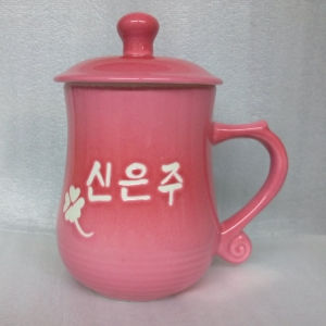 B215 亮粉紅色 美人杯 430cc
