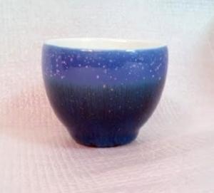 HWK101 雪晶紫色双層 隔熱小茶杯 80CC