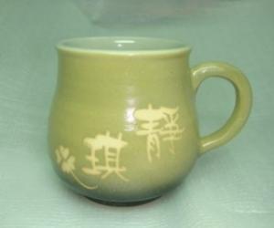 咖啡杯-茶杯  HW280 梨色水杯 + 手把 約280cc