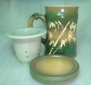 H316 三件泡茶杯-正面可寫名字
