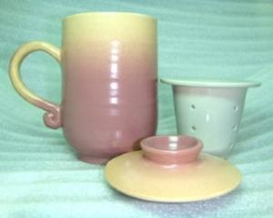 H317 手拉坏泡茶杯 可以寫名字的杯子