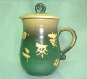 HA2003 手拉坏鶯歌陶瓷杯 梨綠色