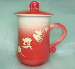 HD2010   手拉坏鶯歌陶瓷杯   亮紅色