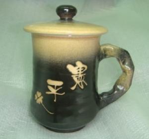 HD2013    手拉坏鶯歌陶瓷杯    梨黑色