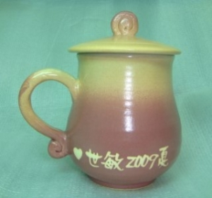 HE2001 手拉坏鶯歌陶瓷杯   紫色