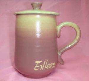 HJ2001 鶯歌手拉杯陶瓷杯 紫色