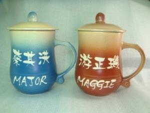 BT231 鶯歌陶瓷對杯