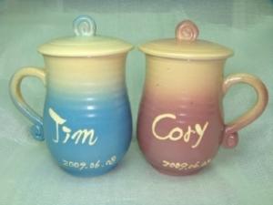HAT402  手拉杯鶯歌陶瓷杯對杯組