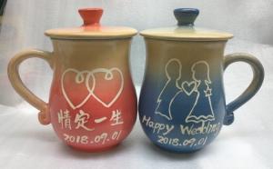 手拉杯鶯歌 陶瓷杯對杯組-HAT403