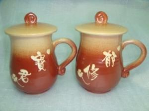 HAT405  手拉杯鶯歌陶瓷杯對杯組