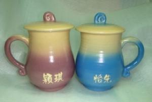 HAT406 手拉杯鶯歌陶瓷杯對杯組