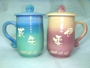 HBT405 手拉杯鶯歌陶瓷杯對杯組