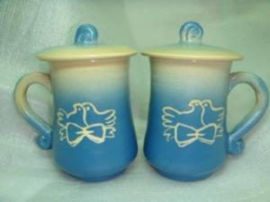 HDT404  手拉杯鶯歌陶瓷杯對杯組