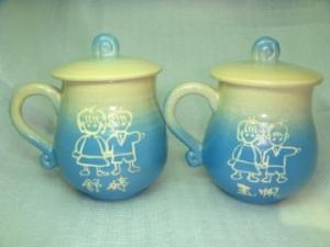 HET407  鶯歌陶瓷手拉胚對杯組