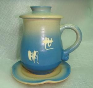 HA303 手拉杯鶯歌手拉杯製作退休紀念杯子