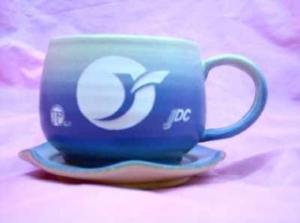 HKC202  咖啡杯盤 + 雕刻LOGO