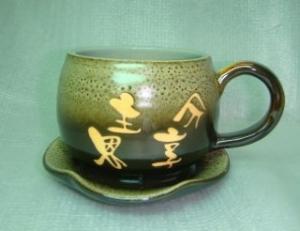 咖啡杯-鶯歌手拉坏,手拉咖啡杯-HBC203