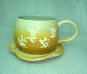 咖啡杯-鶯歌手拉坏,手拉咖啡杯-HBC204