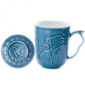 K1505 荷花杯 藍色 (500cc)