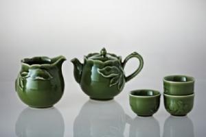 石榴茶具組(有把/一壺+六杯+茶海)