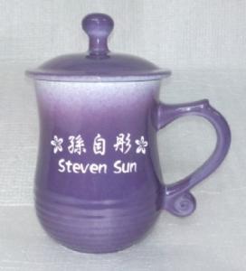 BK214 藍紫色美人杯手工雷射雕刻杯